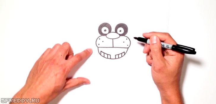 Щеки, рот и зубы героя 5 Ночей с Фредди